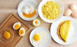 Propiedades del huevo: huevo frito vs huevo cocido