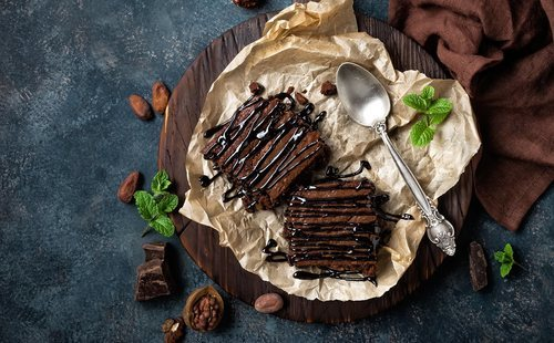 Receta de brownie fitness